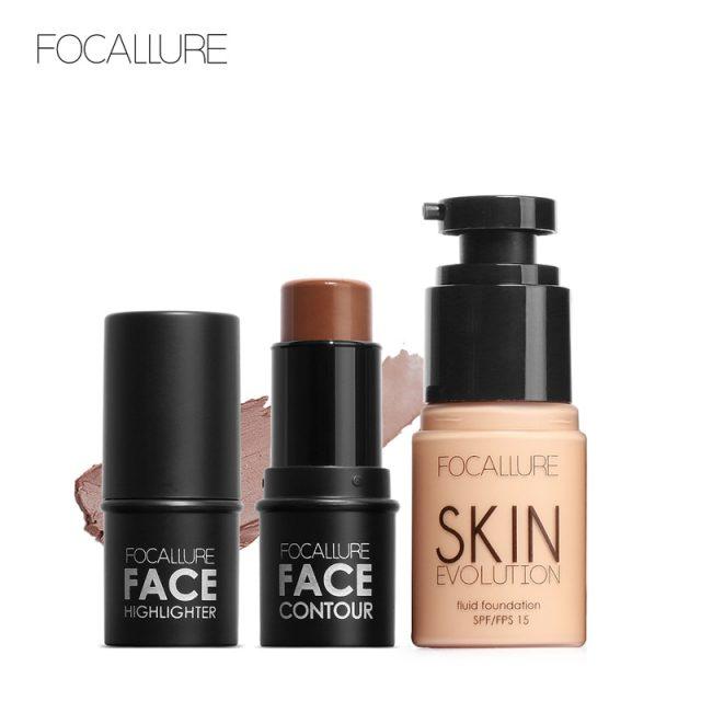 Foundation & Highlighter Makeup Set