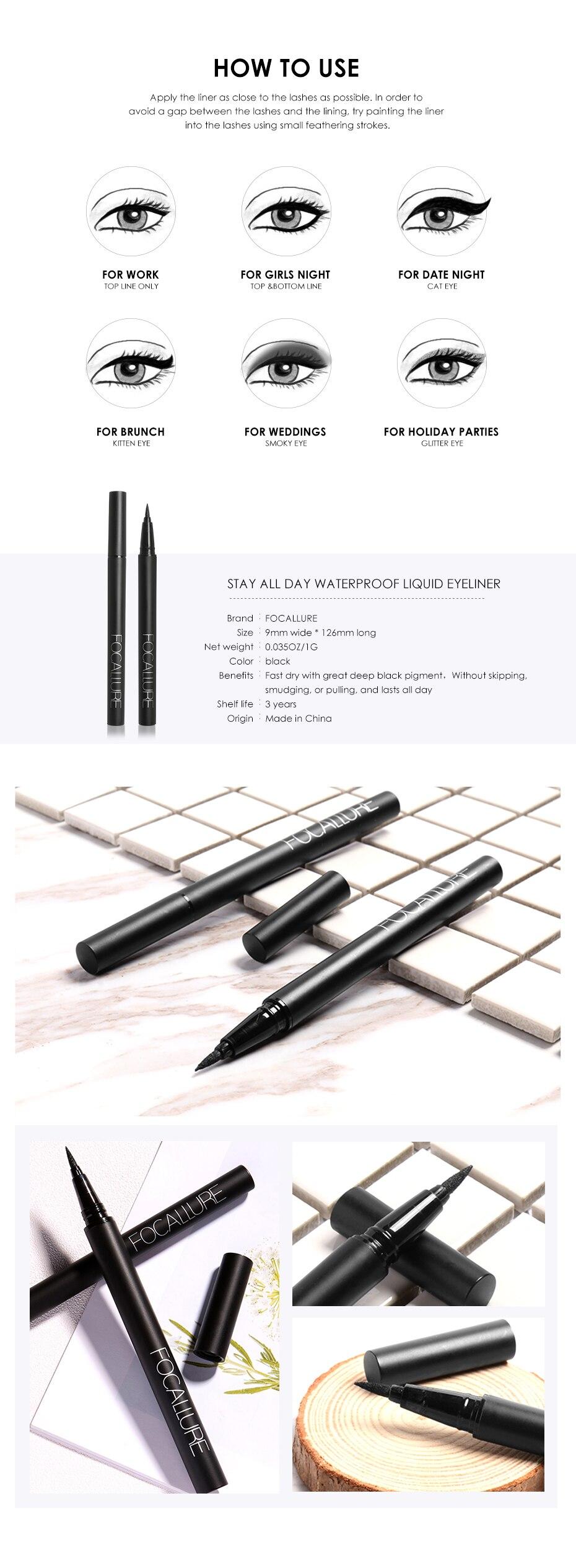 24-Hour Long Lasting Waterproof Eyeliner Pen