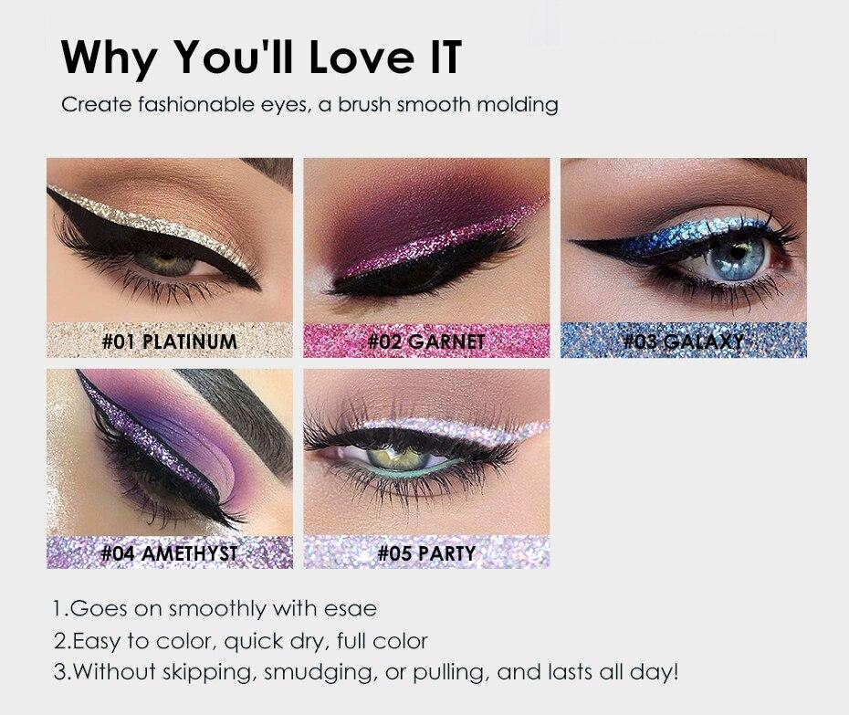 Waterproof Glitter Liquid Eyeliner