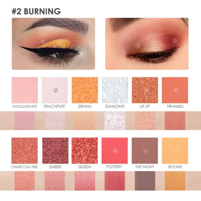 Burning Shimmer Palette