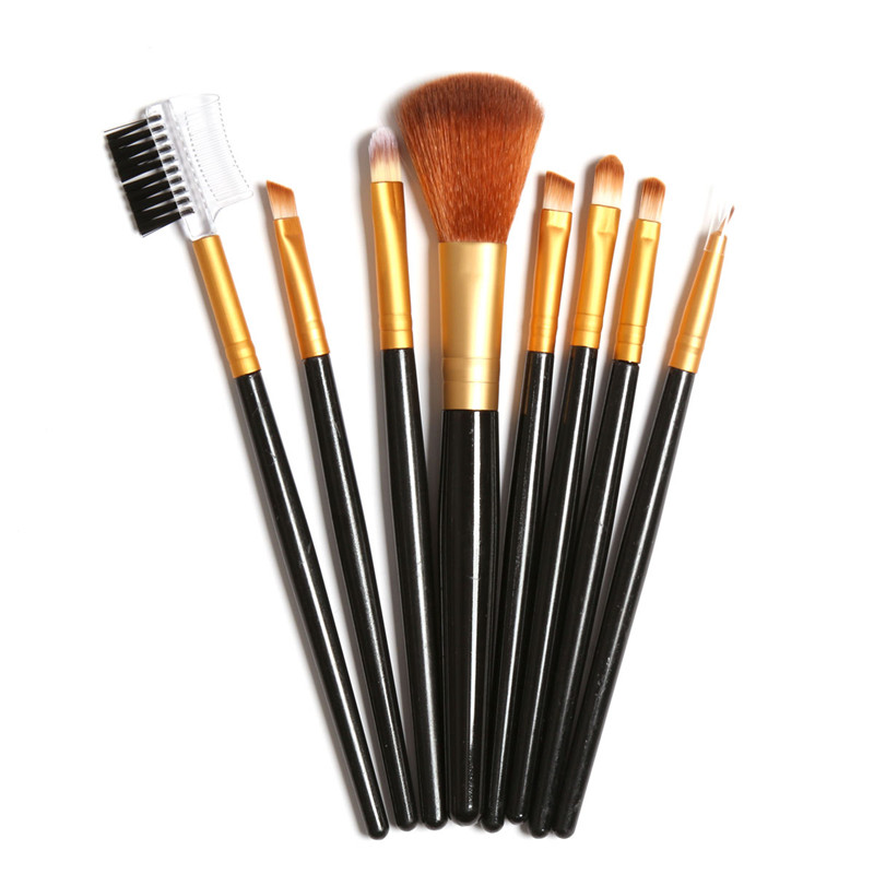 Golden Makeup Brush Set