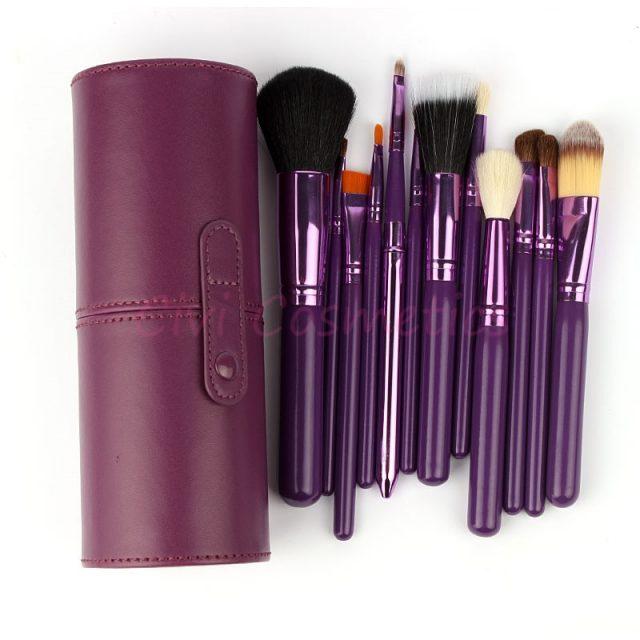 Purple Makeup Brush Set