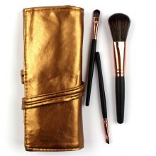 Faux Leather Case 7pc Brush Set