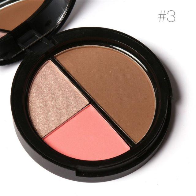 3-in-1 Highlighter & Bronzer Palette