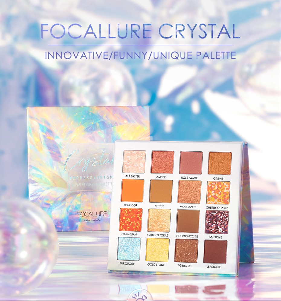 16 Color Crystal Eyeshadow Pallette