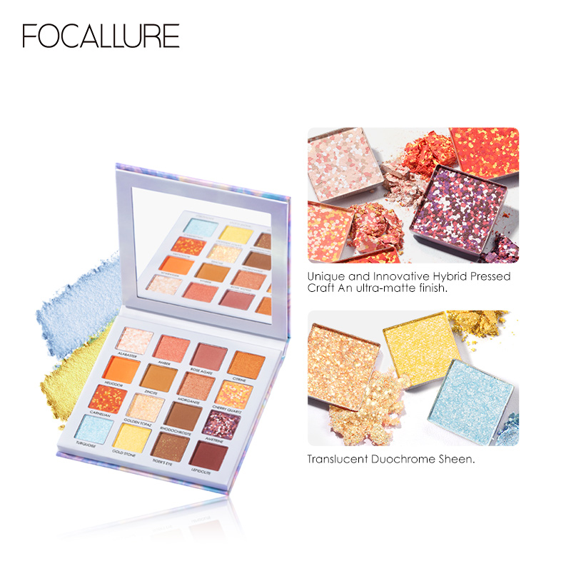 16 Color Crystal Eyeshadow Pallette